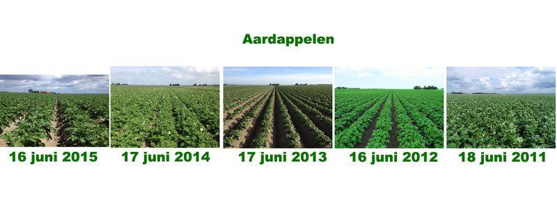19 juni 2015; 5 jaarlijkse gewasgroeivergelijking