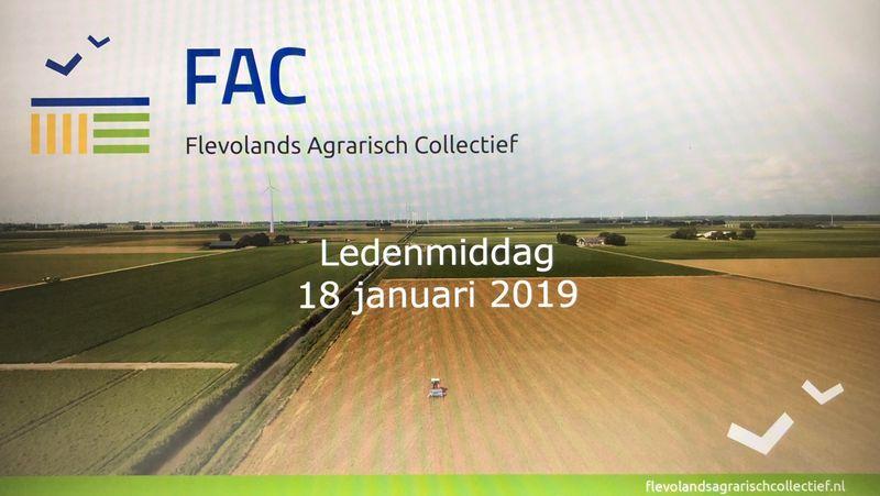 18 januari 2019; ledenmiddag FAC