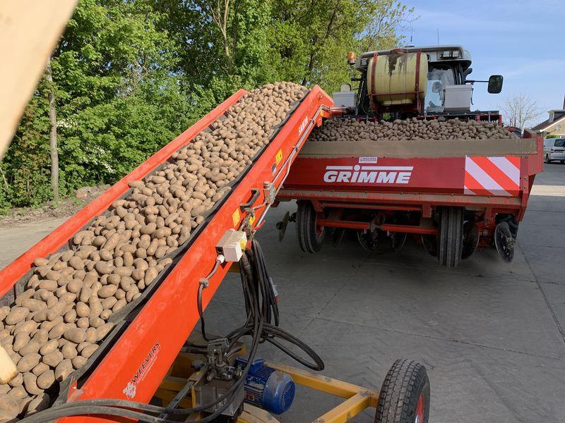 26 en 27 april 2020; aardappels poten