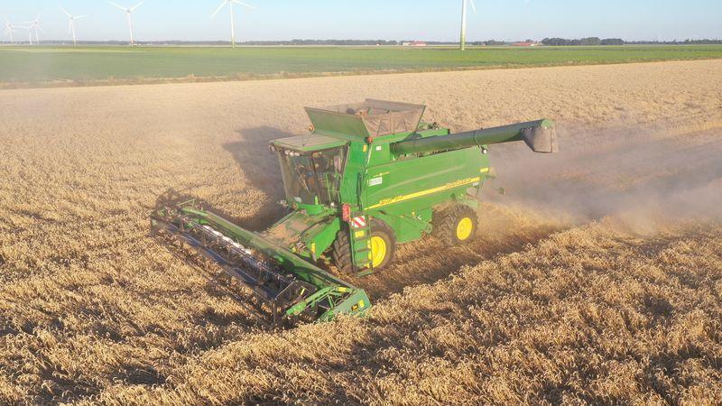 31 juli 2020; wintertarwe oogst