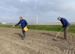 21 april 2021: Proefveld akkerrandmengsels voor FAC zaaien