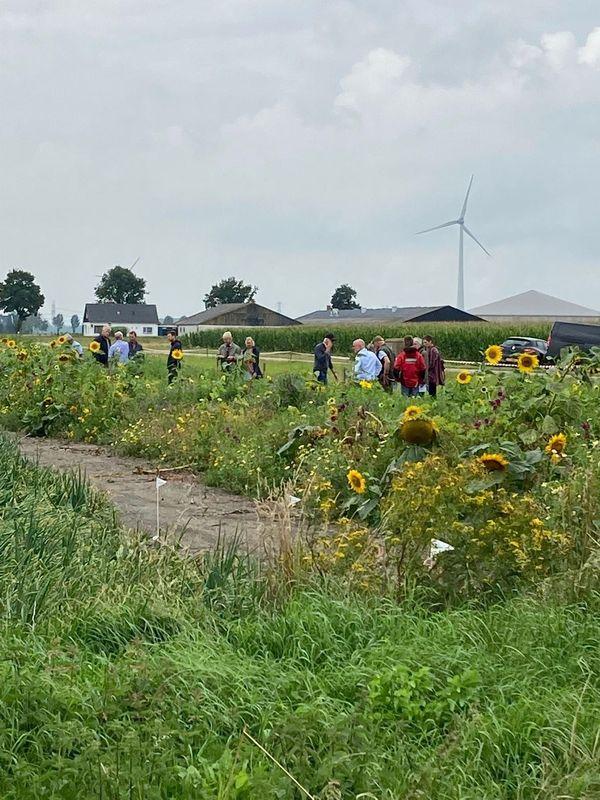 18 augustus 2021; Flevoland bloeit inloop demo
